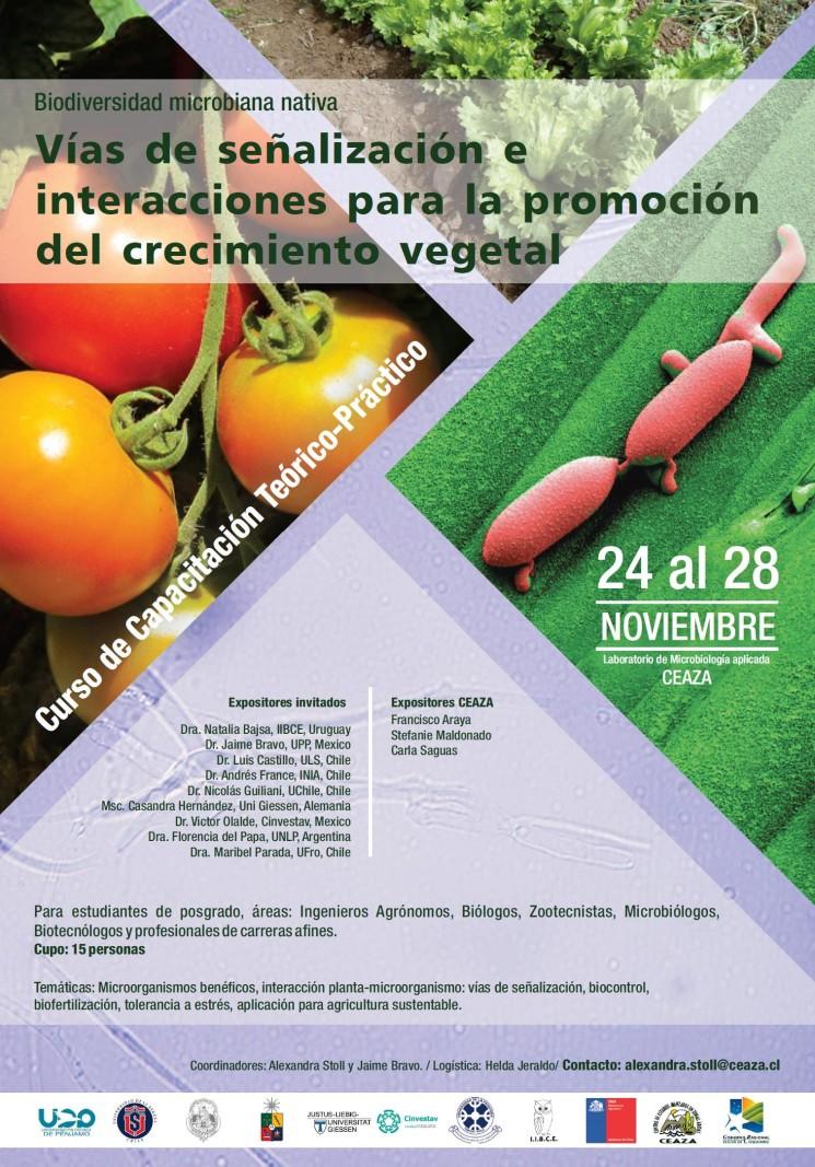"""Curso de Capacitación Teórico-Práctico """" Vías de señalización e interacciones para la promoción del crecimiento vegetal"""""""