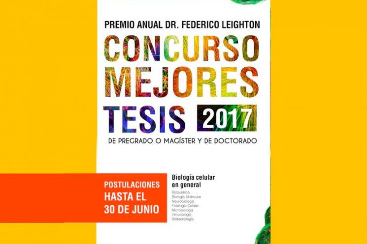 Premio Anual Dr. Federico Leighton 2017