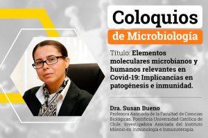 """<strong><span style=""""color: #ff6600;"""" class=""""title-evn"""">COLOQUIO:</span></strong> <span>""""Elementos moleculares microbianos y humanos relevantes en Covid-19: Implicancias en patogénesis e inmunidad""""</span>"""
